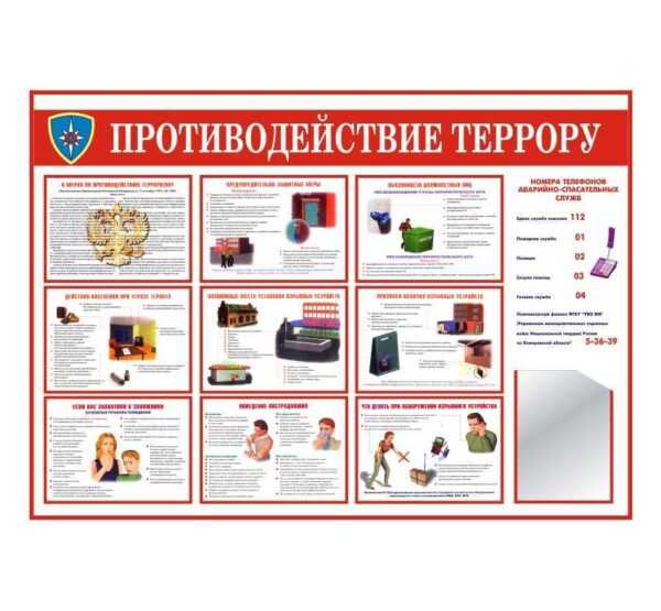 Стенд антитеррор тип2 140х100 1к